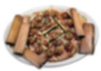 Sausage Stuffed Mushrooms on a Kettle Plank