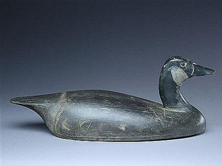 Thomas Chambers' antique wooden decoy Canada goose