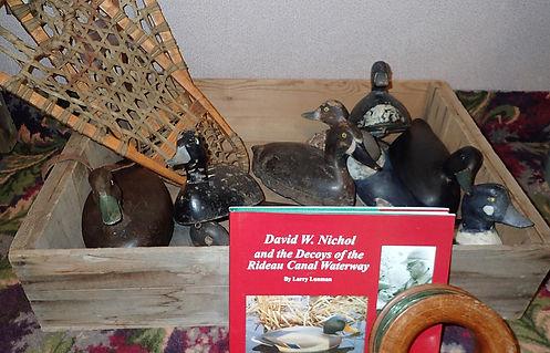 Antique decoys. David W. Nichol carver. Rideau Canal Waterway decoys.