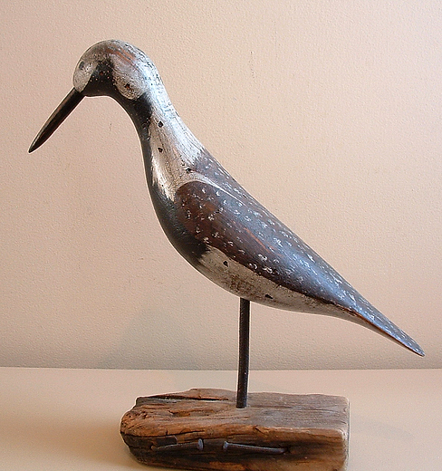 Antique shorebird decoy by carver Ruddy Turnstone.
