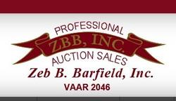 ZEB B. BARFIELD AUCTION SALES