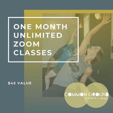 Common Ground Yoga 1 Month Online Membership