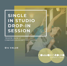 Common Ground Yoga Single Drop In Session