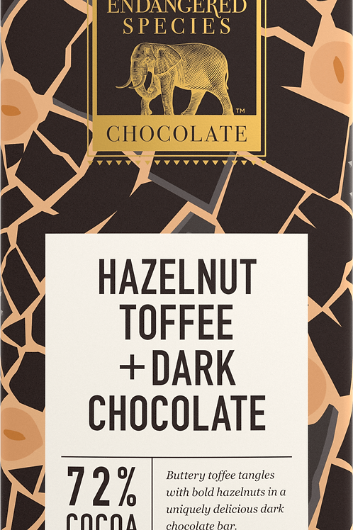 Hazelnut & Toffee Dark Chocolate Bar