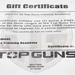 Top Guns one-month guest pass