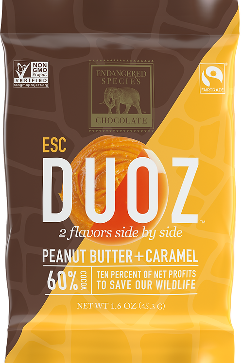 Peanut Butter & Caramel Duoz Chocolate Bar