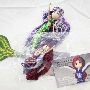 Mermaid Betsy Bobbseys doll and mermaid keychain