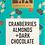 Thumbnail: Cranberries & Almonds Dark Chocolate Bar