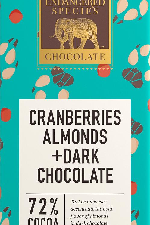 Cranberries & Almonds Dark Chocolate Bar
