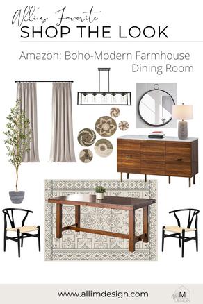 Shop The Look: Boho-Modern Farmhouse Dining Room