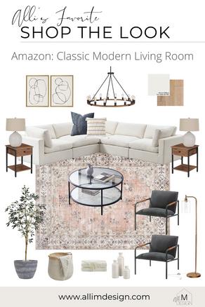 Amazon: Classic Modern Living Room