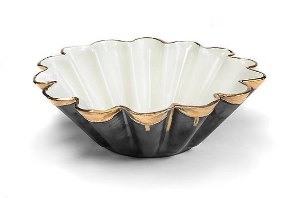 Large Ceramic Fluted Bowl