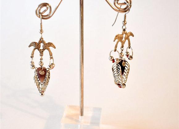Peruvian Bird Earrings