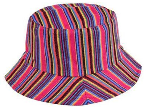 Pink Canvas Bucket Hat
