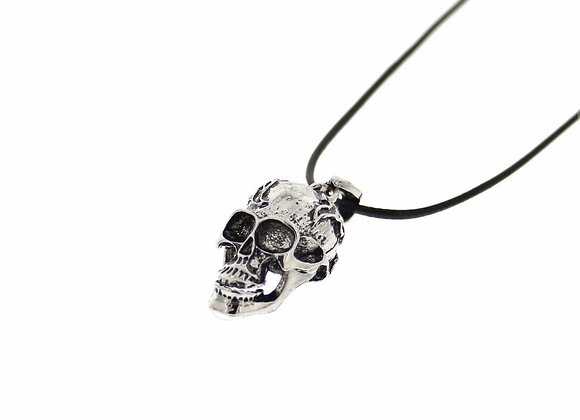Moving Jaw Skull Necklace