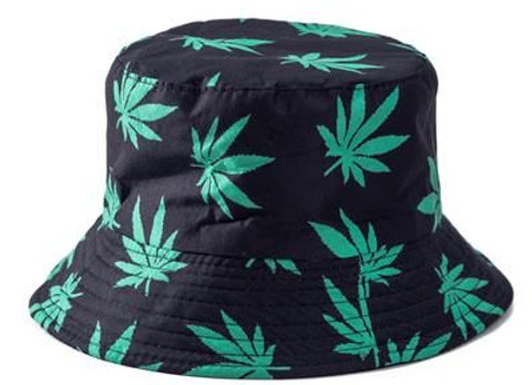 Ganja Print Canvas Bucket Hat