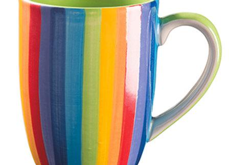 Rainbow Ceramic Vertical Stripe Mug