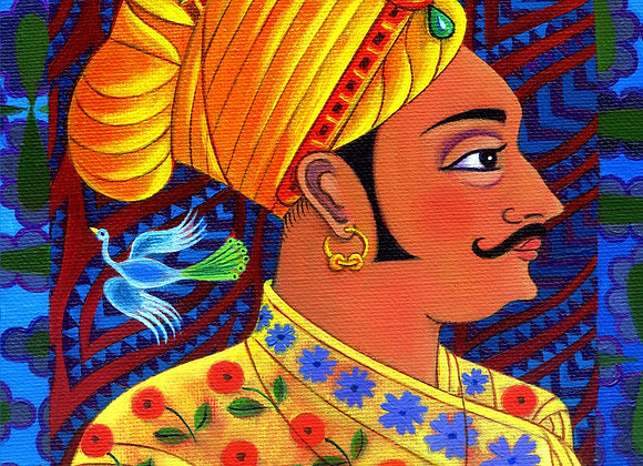Maharaja With Blue Birds