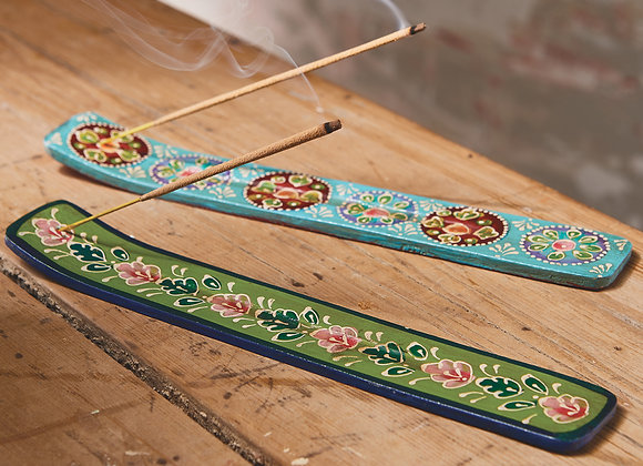 Wooden Painted Incense Stick Holder