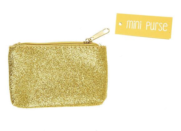 Gold or Silver Mini Sparkle Purse