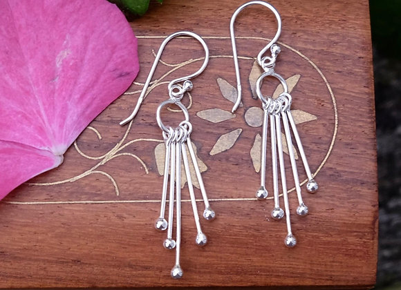 Silver Pendulum Earrings