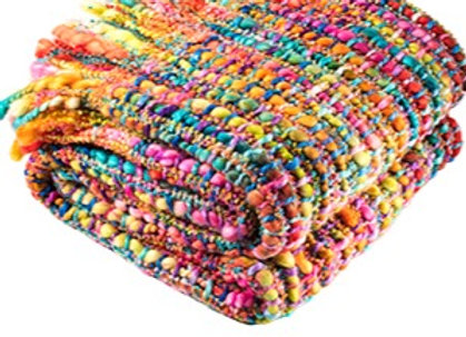 Super Soft Woven Rainbow Throw