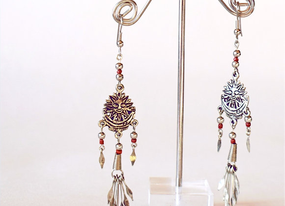 Peruvian Sunshine & Moon Earrings