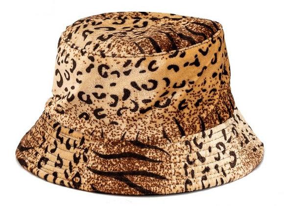 Leopard Velvet Hat