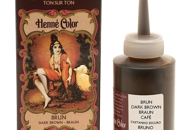 Henne Color Cream Hair Color 90ml Brown