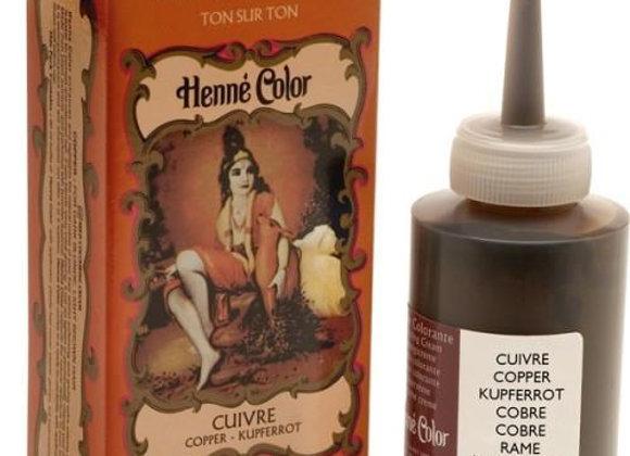 Henne Color Cream Hair Color 90ml Copper