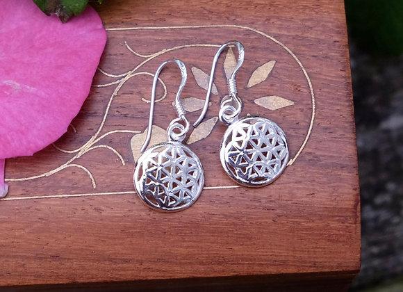 Geometric Disk Earrings