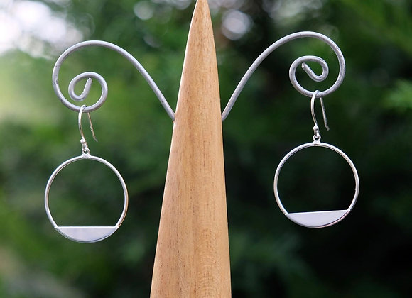 Circle and Segment Drop Earring