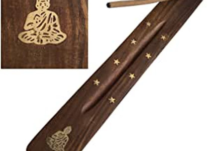 Wooden Incense Holder with Buddha