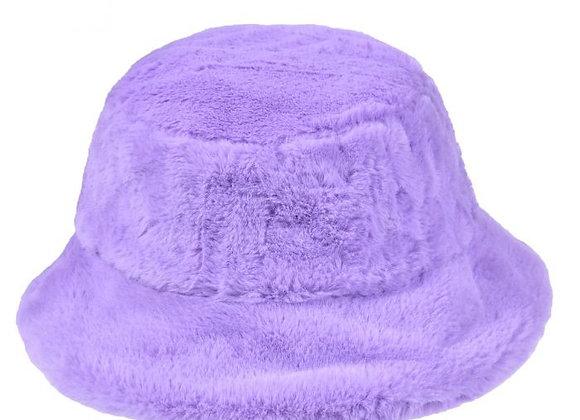 Fluffy Lilac Bucket Hat