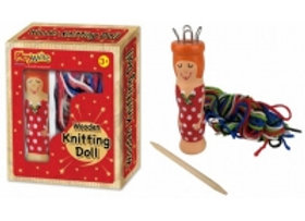 Wooden Knitting Doll