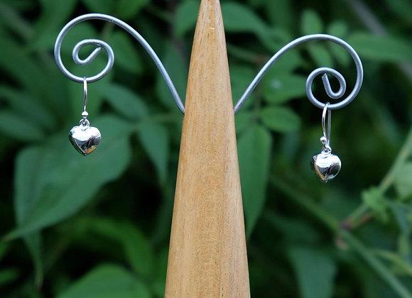 Tiny Heart Hook-in Drop Earrings