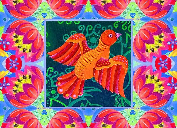 Orange Folk Bird