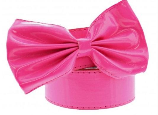 Hot Pink Retro Bow Belt