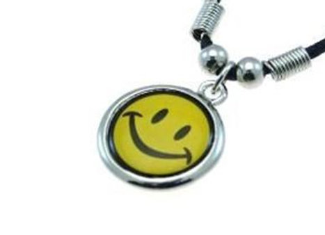 Smiley Corded Necklace