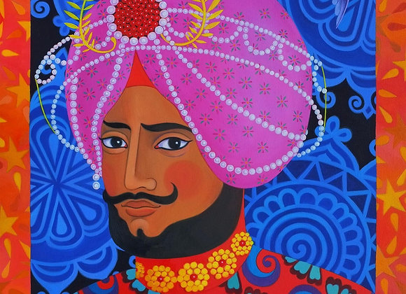 Maharaja With Pink Turban