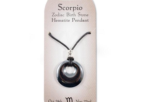 Scorpio - Hematite Pendant