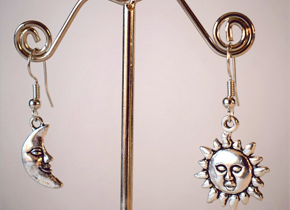 Sunshine and The Moon Earrings
