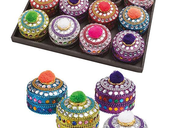 Pom-Pom Glitter Pots