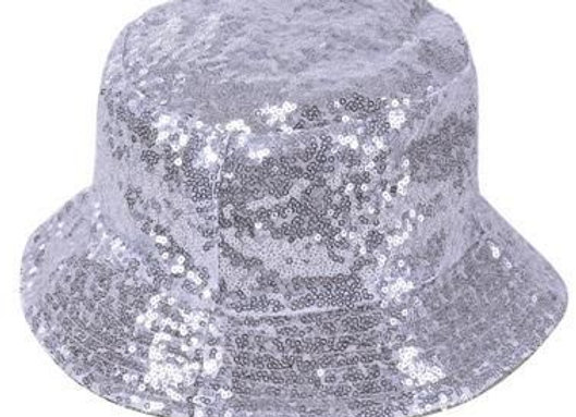 Silver Sequin Bucket Hat