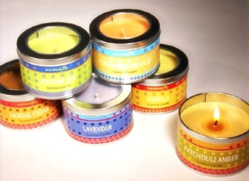 Mehindi Fragranced Candle in Tin
