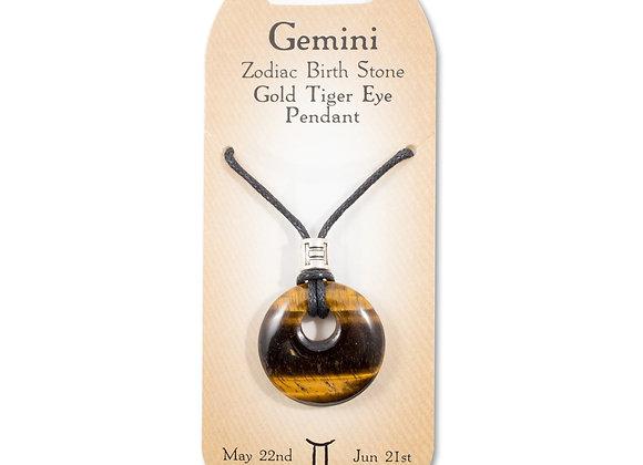 Gemini - Gold Tiger Eye Pendant