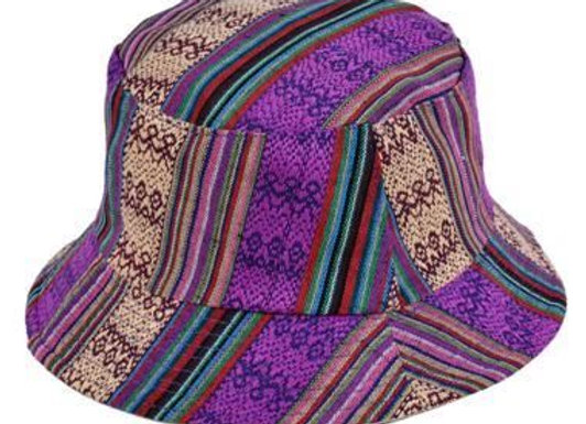 Purple Canvas Bucket Hat