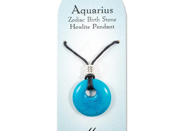 Aquarius - Howlite Pendant