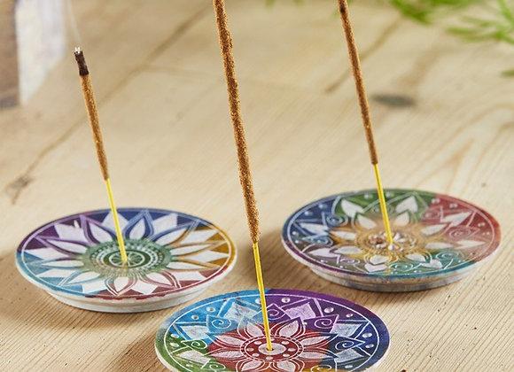 Multi Chakra Incense Plate