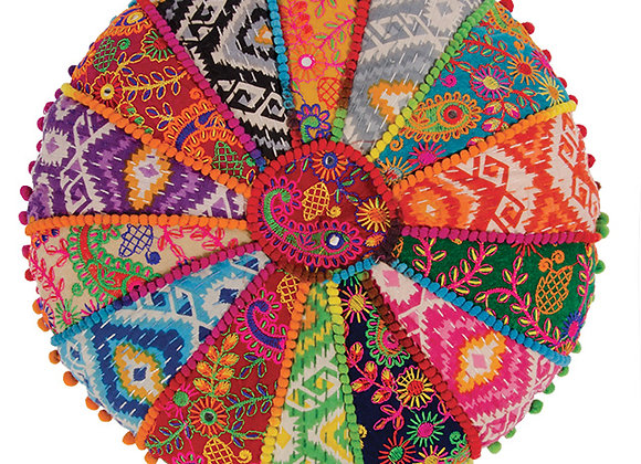 Patchwork Embroidered Yoga Cushion